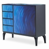 AICO by Michael Amini - Illusions Blue Waves Cabinet - KIA-ILUSN-084