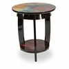 AICO by Michael Amini - Illusions Round Chair Side Table - FS-ILUSN-085
