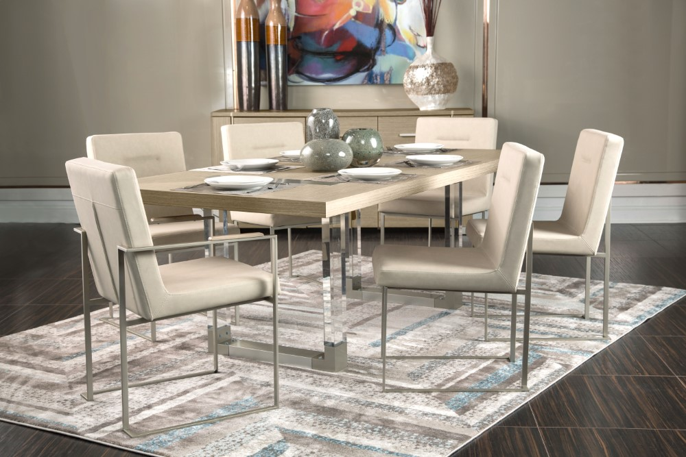Aico By Michael Amini Laguna Ridge Rectangular Dining Table In Washed Oak 9083000 129