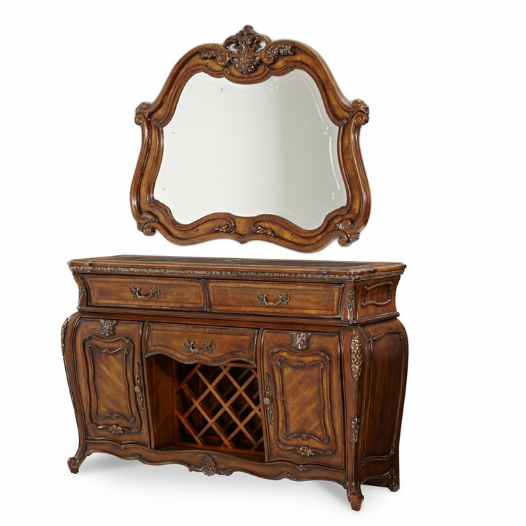 AICO by Michael Amini - Lavelle Sideboard and Mirror in Melange