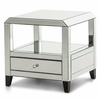 AICO by Michael Amini - Montreal Mirrored Square Accent Table w/ Drawer - FS-MNTRL222H