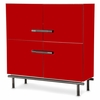 AICO by Michael Amini - State St. Accent Cabinet and Legs in Saffron and Black Nickel
