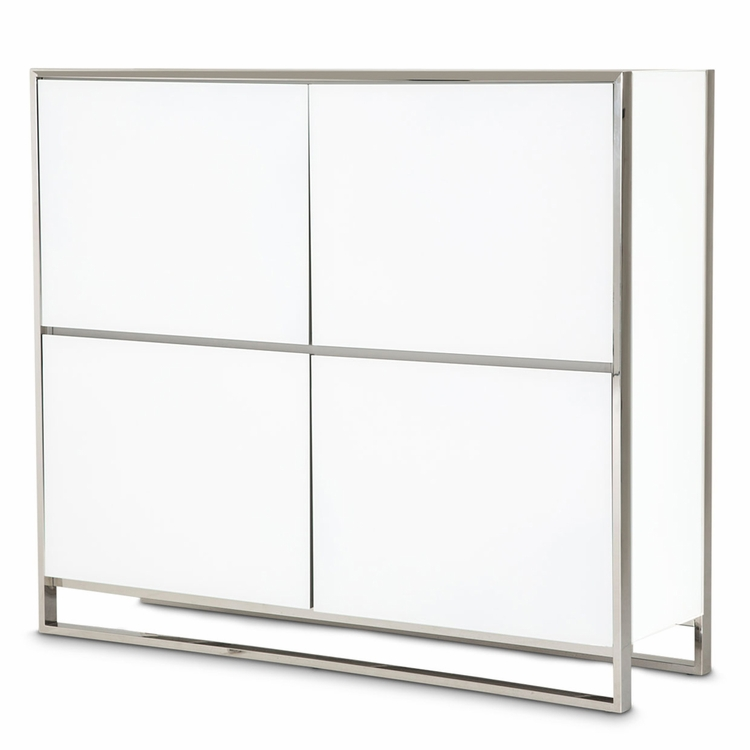 AICO by Michael Amini - State St. Accent Cabinet in Glossy White - 9016009-116