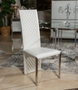 AICO by Michael Amini - State St. Side Chair, Short in Glossy White - 9016003AS-116