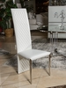 AICO by Michael Amini - State St. Side Chair, Tall in Glossy White - 9016003AT-116