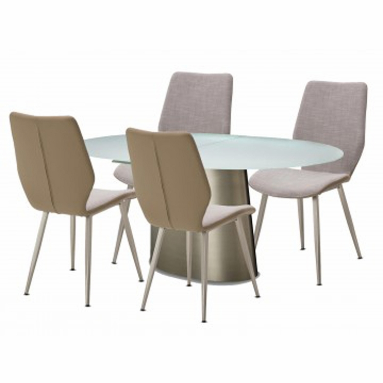 AICO by Michael Amini - Trance Halsted Oval Dining Room Set (5 pc)
