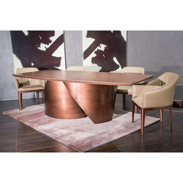 AICO by Michael Amini - Trance Parallel Rect. Dining Room Set (5 pc)