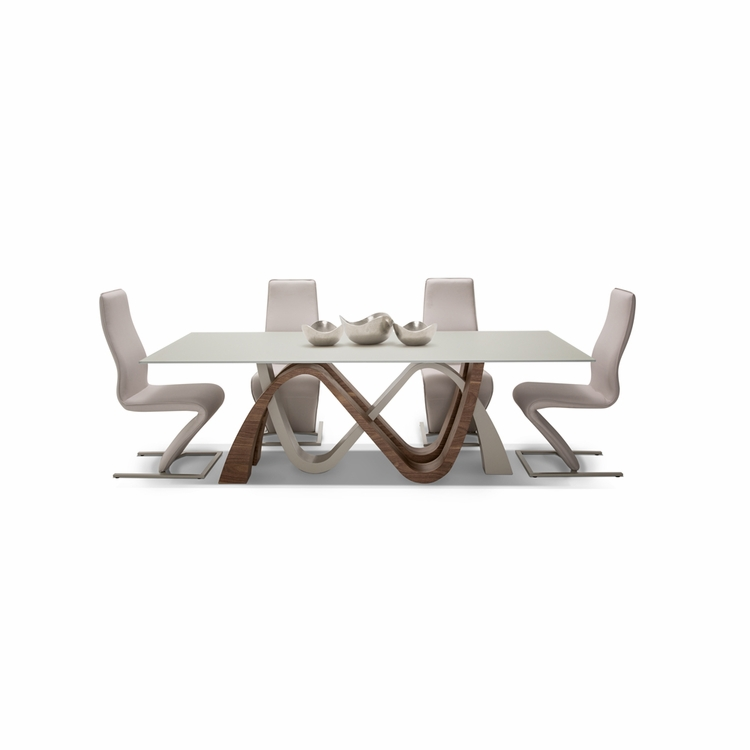 AICO by Michael Amini - Trance Rapture Rect. Glass Dining Room Set (5 pc)