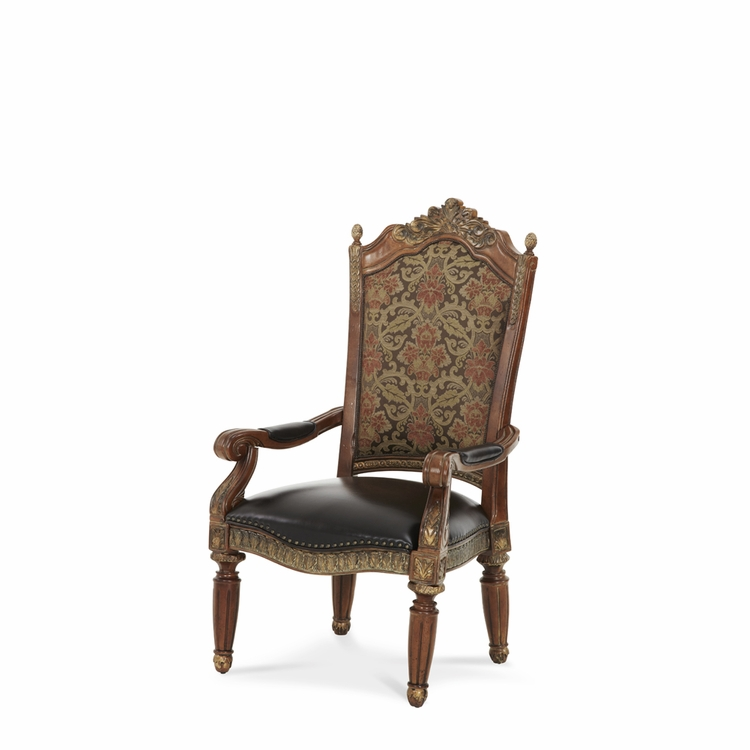 AICO by Michael Amini - Villa Valencia Arm Chair in Classic Chestnut - 72004-55