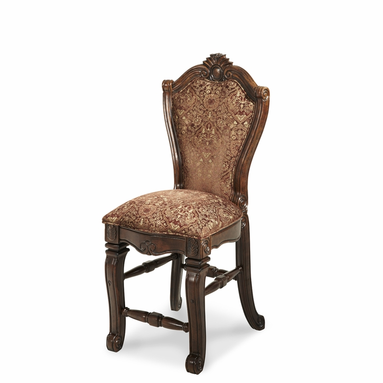 AICO by Michael Amini - Windsor Court Counter Height Chair in Vintage Fruitwood - 70033N-54