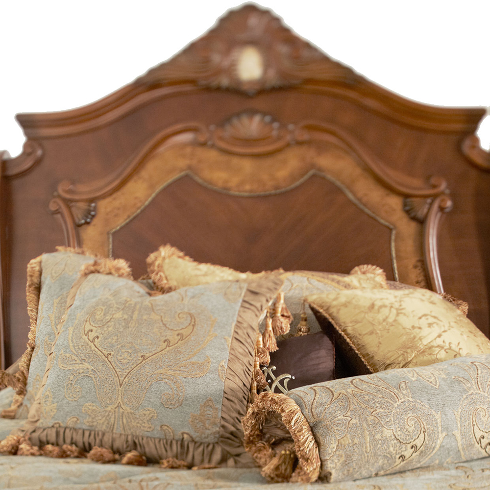 Aico By Michael Amini Cortina King Sleigh Bed In Honey