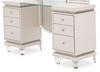 AICO by Michael Amini - Glimmering Heights Upholstered Vanity in Ivory - 9011058-111