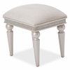 AICO by Michael Amini - Glimmering Heights Vanity Bench in Ivory - 9011804-111