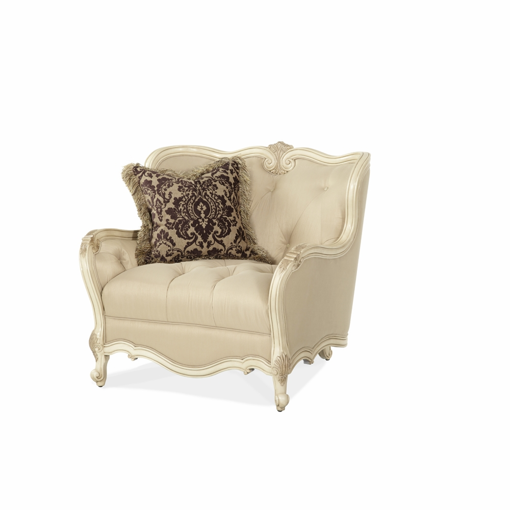 Fabulous Aico By Michael Amini Lavelle Chair Half In Blanc 54838 Chpgn 04 Cjindustries Chair Design For Home Cjindustriesco