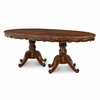 AICO by Michael Amini - Lavelle Oval Pedestal Dining Table in Melange