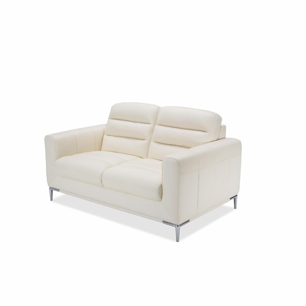 Excellent Aico By Michael Amini Mia Bella Elena Leather Loveseat In Iceberg Mblp Elena25 Icb 13 Alphanode Cool Chair Designs And Ideas Alphanodeonline