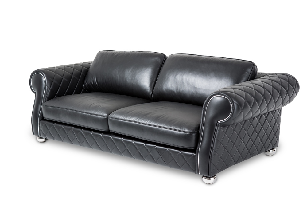 Astonishing Aico By Michael Amini Mia Bella Lugano Leather Standard Sofa In Smooth Black Mb Lugan15 Sbl 13 Download Free Architecture Designs Scobabritishbridgeorg