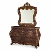 AICO by Michael Amini - Palais Royale Double Dresser and Mirror in Rococo Cognac