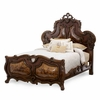 AICO by Michael Amini - Palais Royale Queen Panel Bed in Rococo Cognac