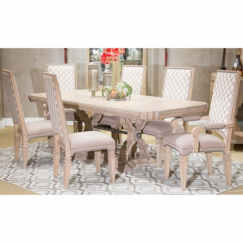 AICO by Michael Amini - Tangier Coast Rect. Dining Room (7 pc) in Desert Sand