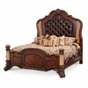 AICO by Michael Amini - Victoria Palace King Panel Bed in Light Espresso