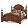 AICO by Michael Amini - Villa Valencia Cal. King Poster Bed in Classic Chestnut
