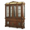 AICO by Michael Amini - Villa Valencia China and Buffet with Light Box in Classic Chestnut