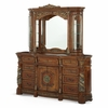AICO by Michael Amini - Villa Valencia Dresser and Mirror with Light Box in ClassicChestnut