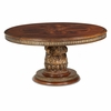 AICO by Michael Amini - Villa Valencia Round Dining Table in Classic Chestnut