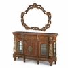 AICO by Michael Amini - Villa Valencia Sideboard and Mirror in Classic Chestnut