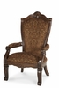AICO by Michael Amini - Windsor Court Arm Chair Fabric Back in Vintage Fruitwood - 70004-54