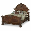AICO by Michael Amini - Windsor Court Cal. King Mansion Bed in Vintage Fruitwood