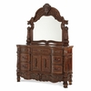 AICO by Michael Amini - Windsor Court Dresser and Mirror in Vintage Fruitwood