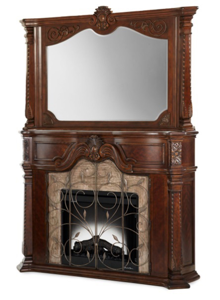Aico By Michael Amini Windsor Court Fireplace W Mirror