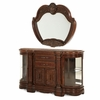 AICO by Michael Amini - Windsor Court Sideboard and Mirror in Vintage Fruitwood