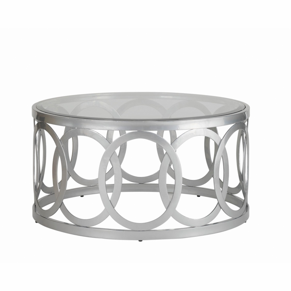 Allan Copley Designs Alchemy Round Cocktail Table With Glass