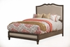 Alpine Furniture - Charleston Queen Panel Bed with Upholstered Headboard & Footboard - 1500-01Q