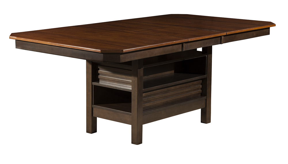 Alpine Furniture Davenport Extension Dining Table With Easy Open Erfly Leaf 5478 01