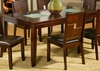 Alpine Furniture - Lakeport Extension Dining Table with Broken Glass Inserts - 551-01