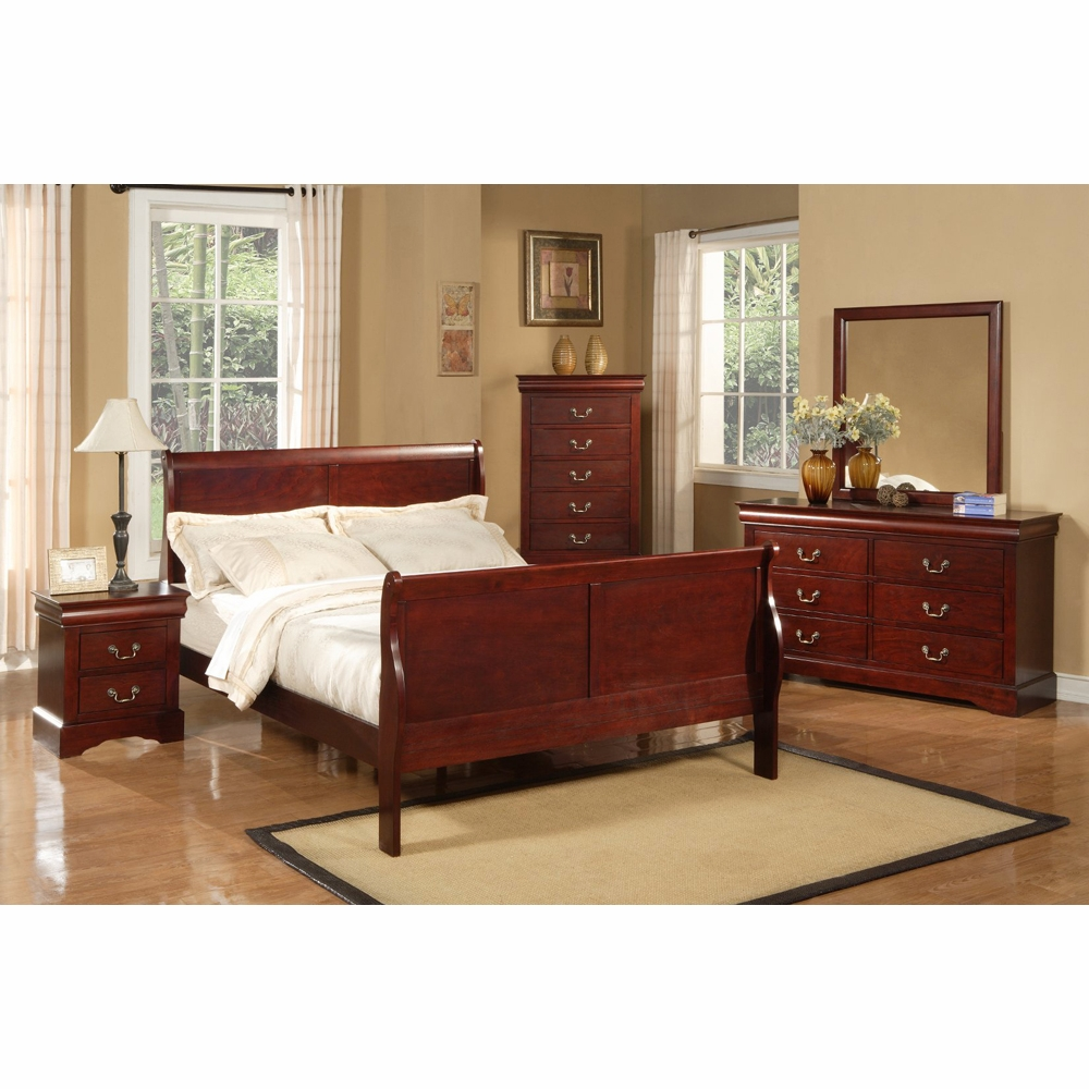 Alpine Furniture Louis Philippe Ii 5 Piece California King Bedroom Set Hover To Zoom