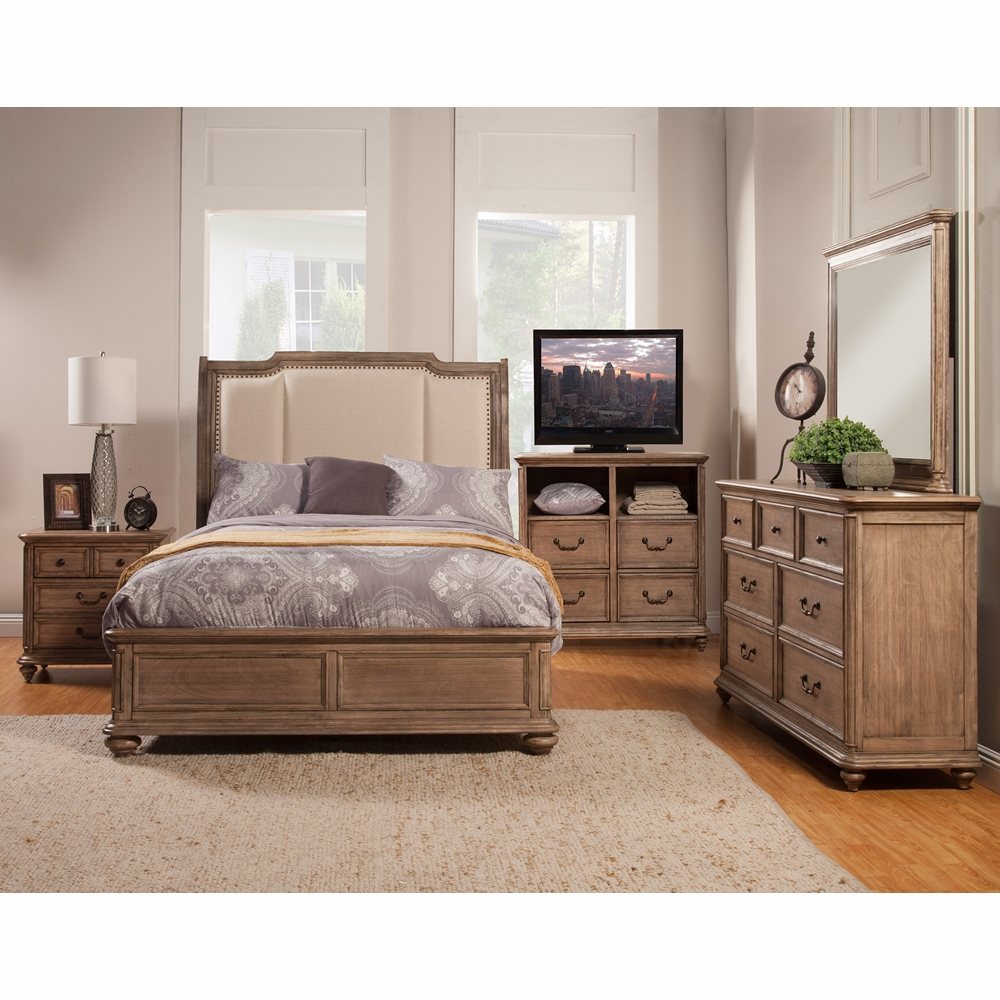 Alpine Furniture - Melbourne 5-Piece King Bedroom Set MC