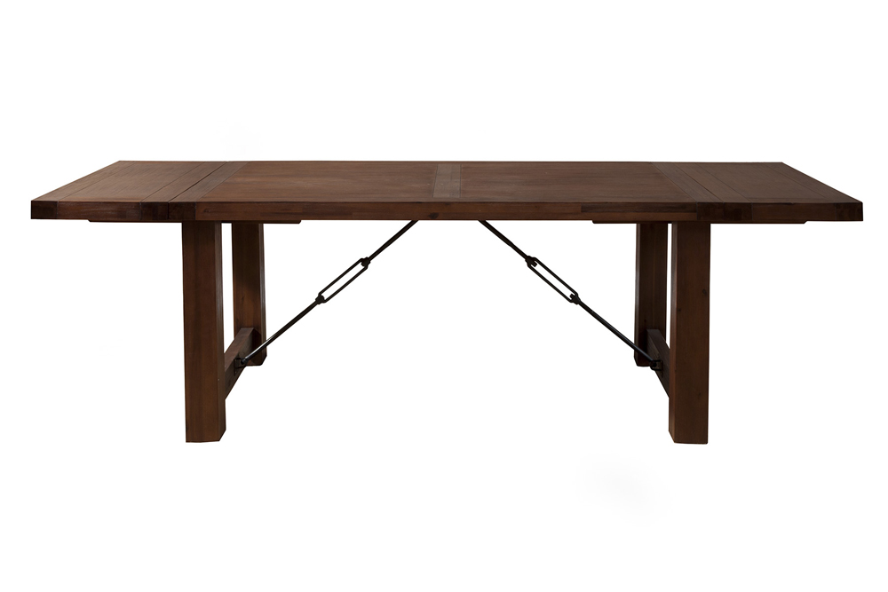 Alpine Furniture Pierre Dining Table With Dual Removable Leaves 8104 01