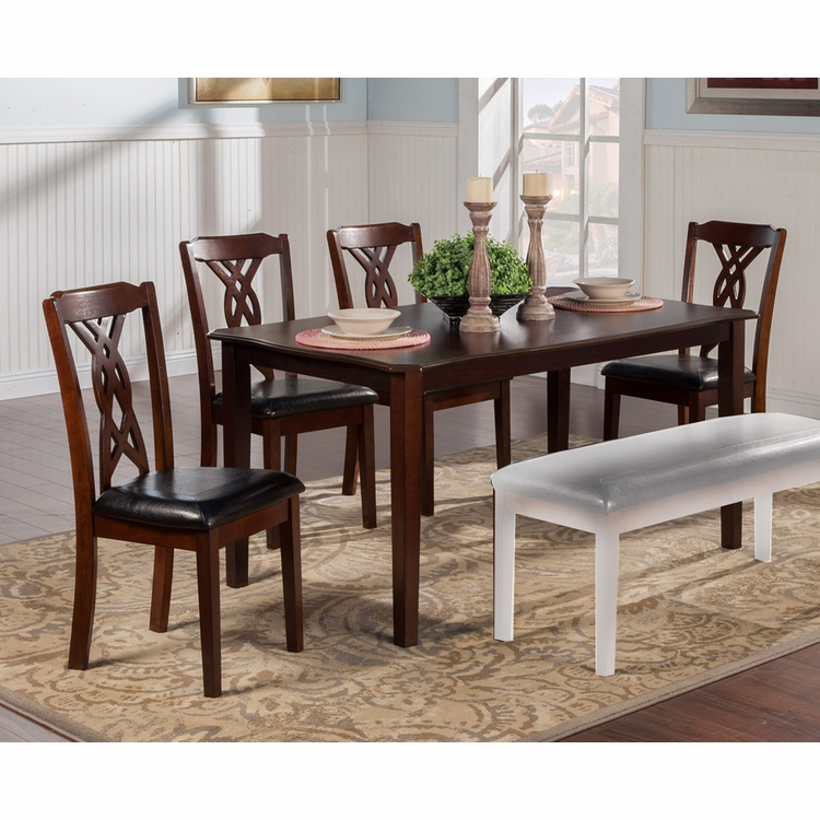 Alpine Furniture - Provo 5 Piece Dining Set with Table And 4 Chairs - 5222-5