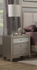 Alpine Furniture - Silver Dreams 2 Drawer Nightstand - 1519-02