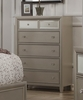 Alpine Furniture - Silver Dreams 5 Drawer Chest - 1519-05