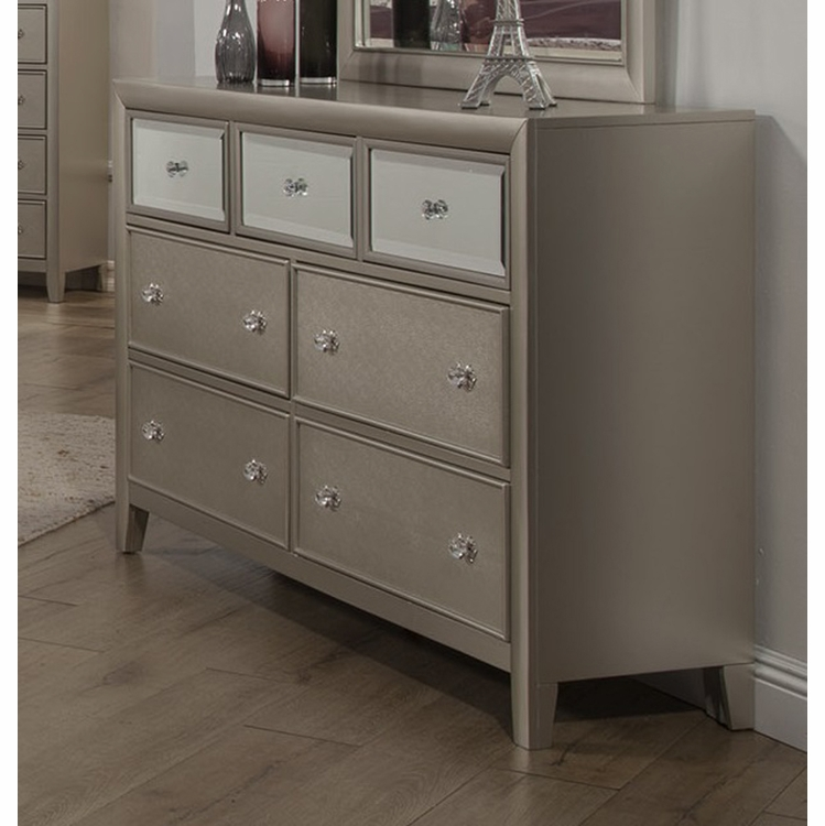 Alpine Furniture - Silver Dreams 7 Drawer Dresser - 1519-03