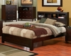 Alpine Furniture - Solana California King Platform Bed with Bookcase Headboard - SK-07CK