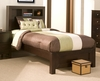 Alpine Furniture - Solana Twin Platform Bed with Bookcase Headboard - SK-12T