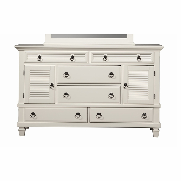 Alpine Furniture - Winchester 2 Cabinet & 6 Drawer Dresser - 1306-W-DR