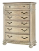 American Drew - Jessica Mcclintock-The Boutique Collection Drawer Chest-White Veil W/Revival Top  - 217-215W